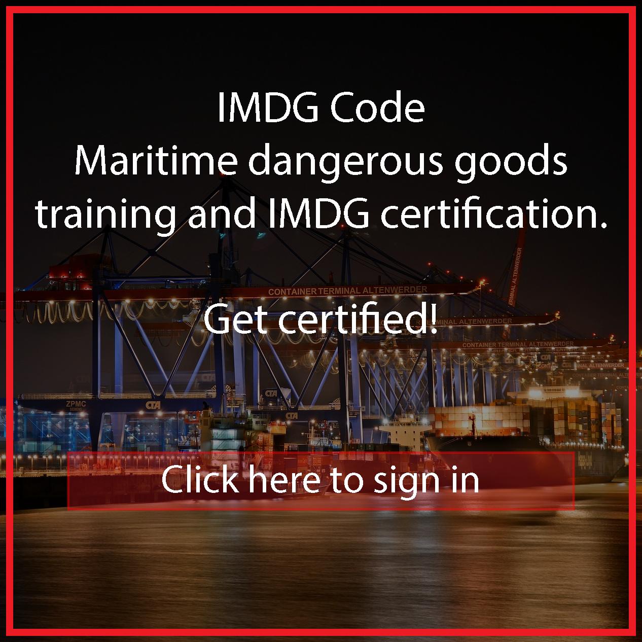 IMDG Course Online